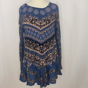 Free People Smooth Talker tunic dress in blue